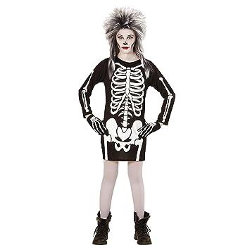 WIDMANN Disfraz de Esqueleto para niña, Vestido: Amazon.es ...