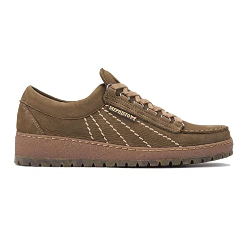 fe07eb987e Mephisto Rainbow Sportbuck Nubuck lace Shoes for Men Taupe (6.5 UK)
