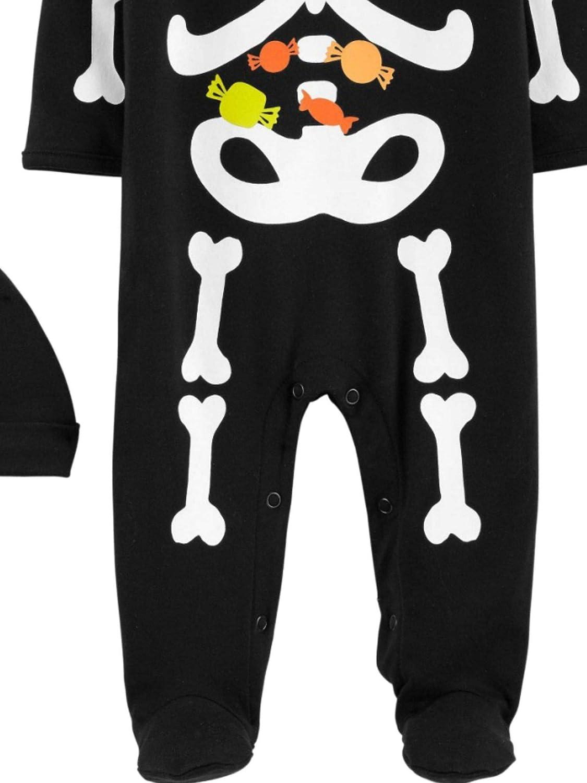 Carters Baby Boys Halloween Black Skeleton Sleep N Play