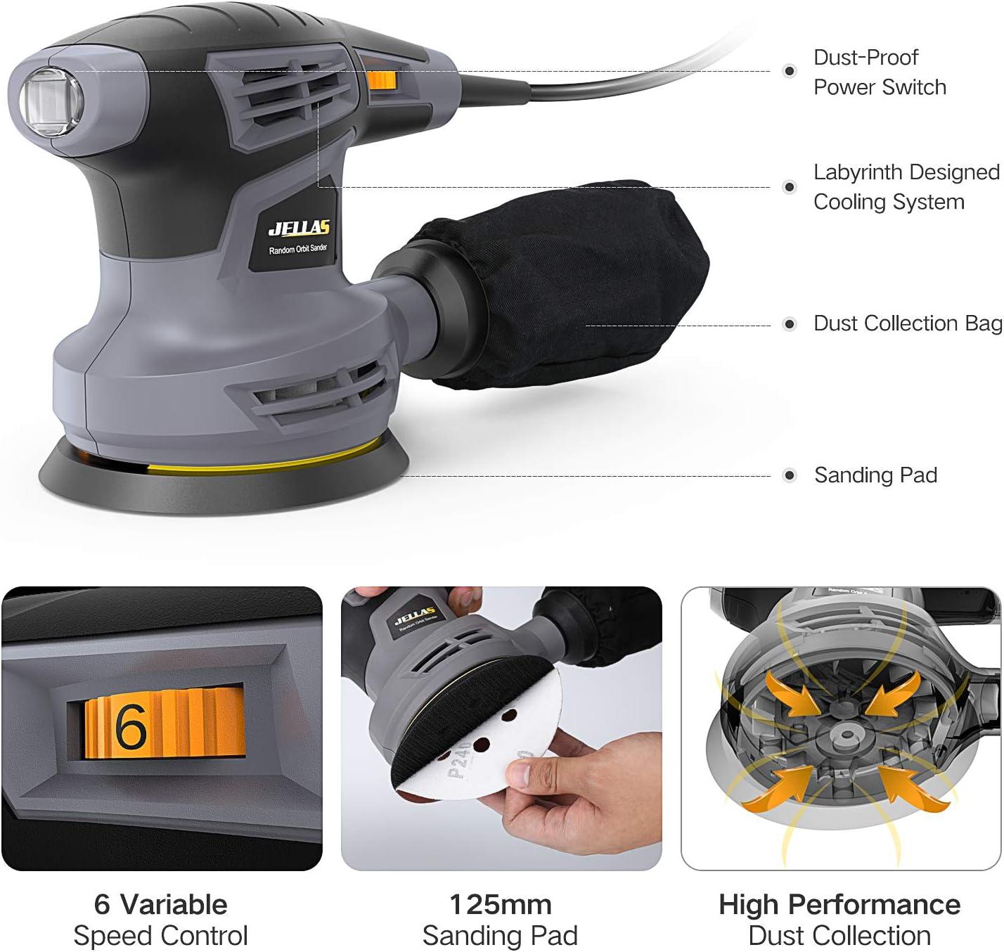 Exzenterschleifer 280 W 125 mm Handschleifer Schleifer Schleifmaschine NEU TOP