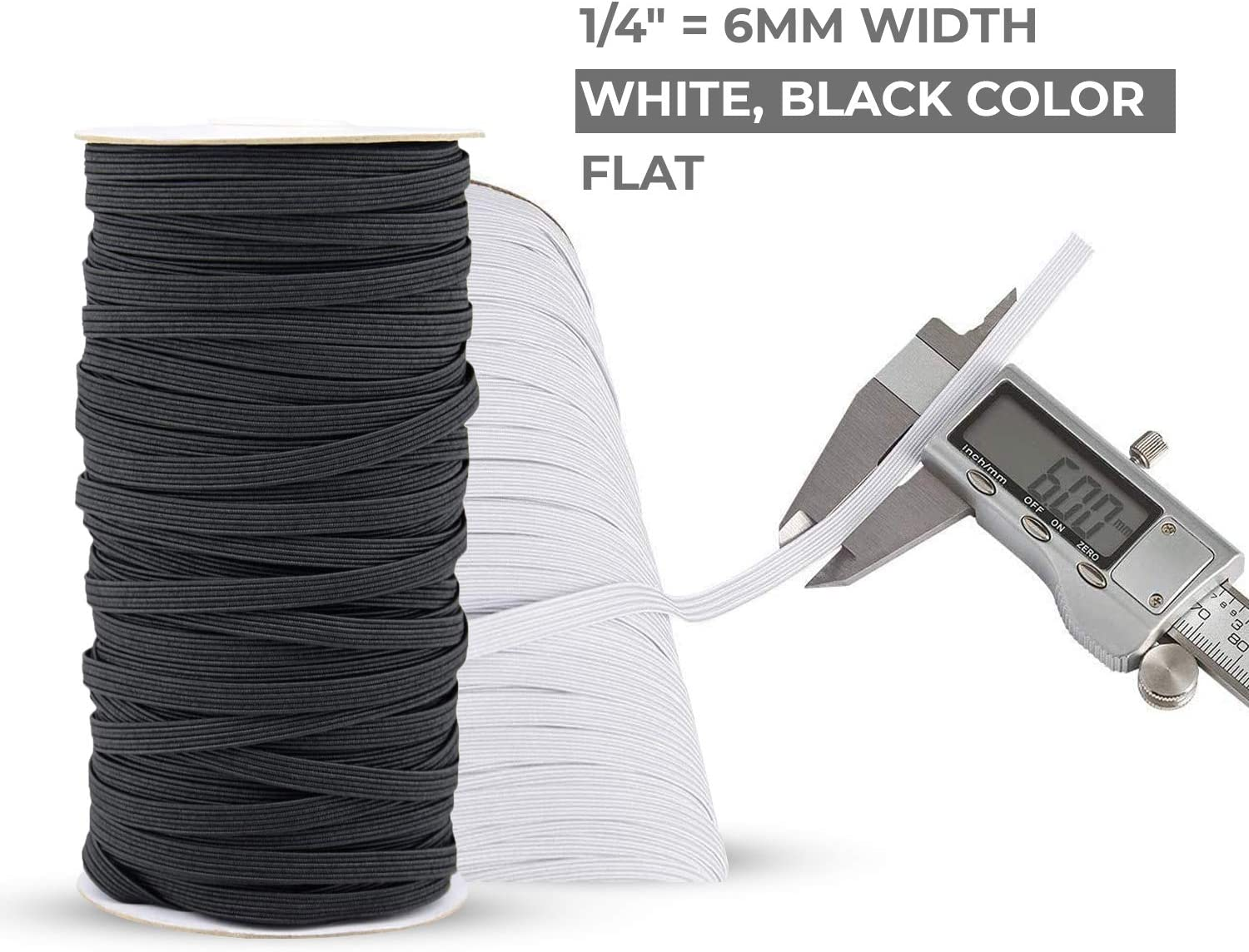 Cord High Elasticity Strap Bungee for Handmade Making Sewing Craft DIY Mask and Bedspread Cuff Braided Elastic Rope 100 Yards Elastic Band for Sewing 1//2 inch Black Flex Fabrics