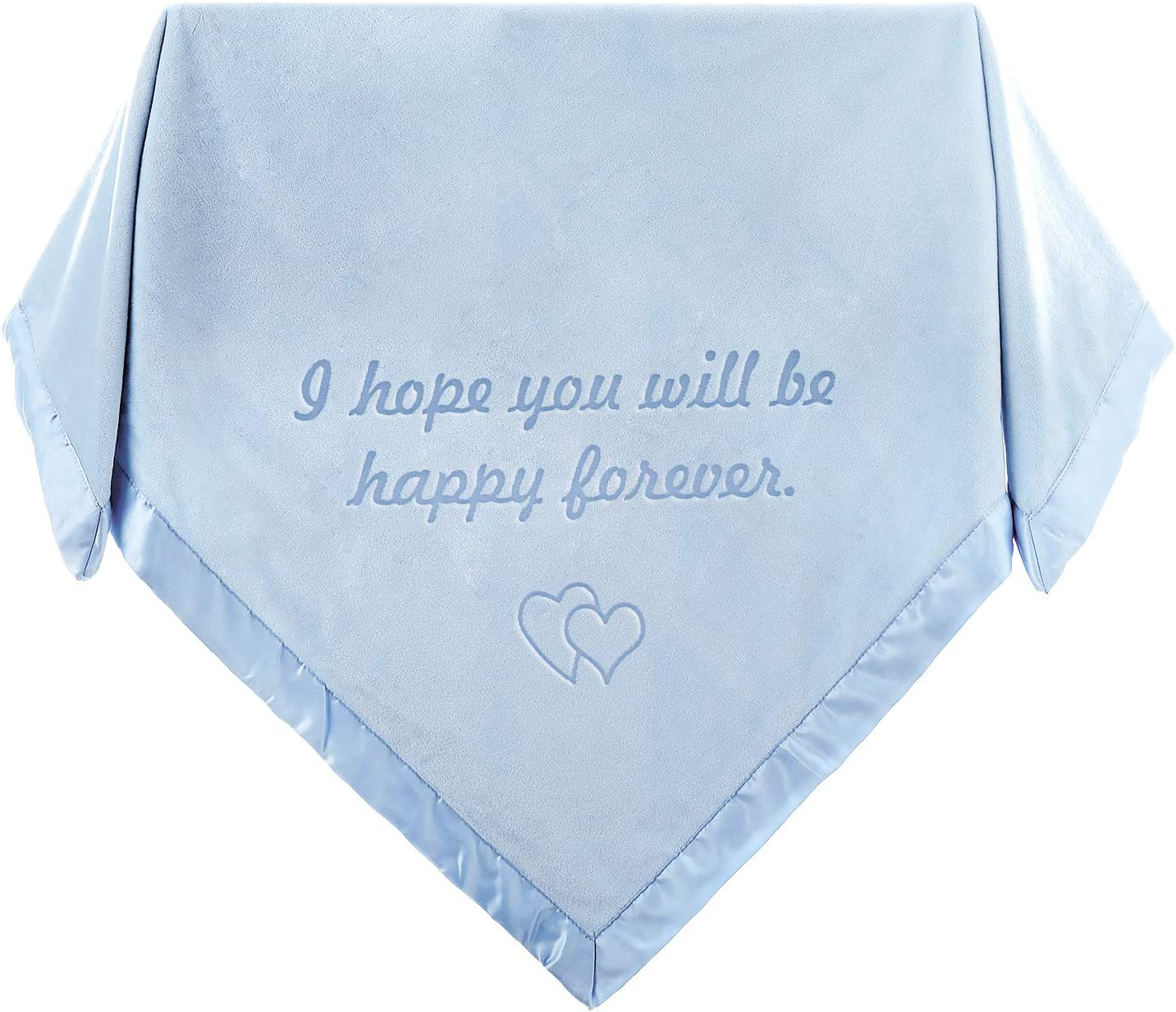 Blue Custom Nursery Swaddle Blanket for Girls Or Boys Gifts Whale Design with Name and Date AW Personalized Baby Receiving Blanket