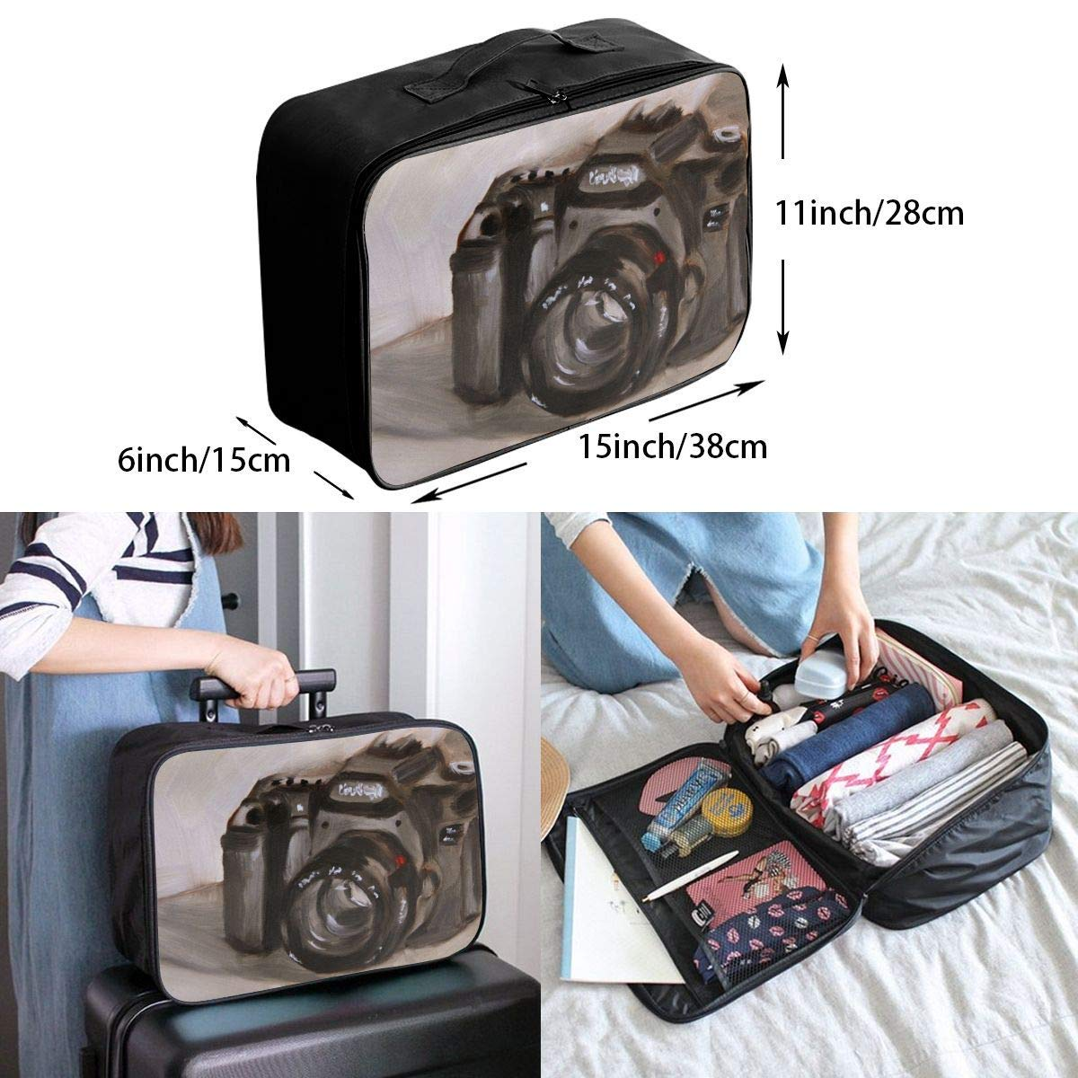 JTRVW Luggage Bags for Travel Lightweight Large Capacity Portable Duffel Bag for Men /& Women Camera Painting Travel Duffel Bag Backpack