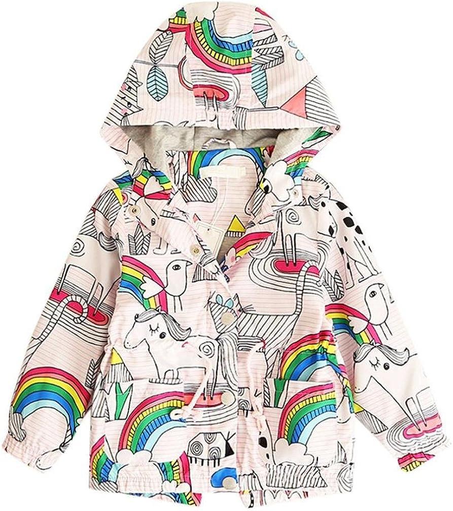 KONFA Teen Baby Girls Cartoon Birds Print Dress,Suitable for 1-11 Years Old,Long Sleeve Princess Skirt Set