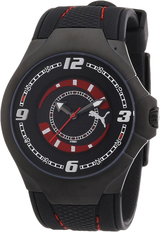 PUMA Men s PU101681001 Slim Pedal II Black IP Black Dial Watch