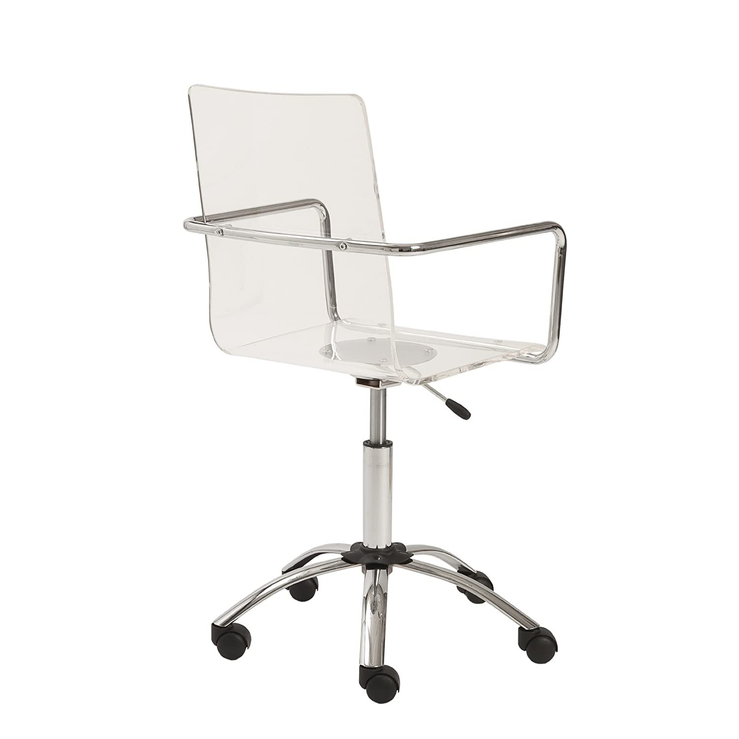 Amazon Euro Style Chloe Clear Acrylic Adjustable fice Chair