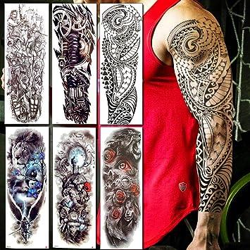 Baofuli Brazo Completo Hombres Mujeres Tatuajes Temporales ...