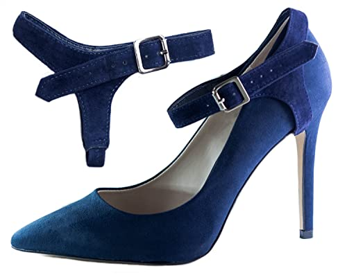 Correas para Zapatos Removibles - Para sujetar zapatos de taco alto flojos (Negro Gamuza) XA5Acmns