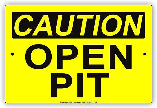 "OSHA Safety Notice 8/""x10/"" Metal Novelty Silly Signs"