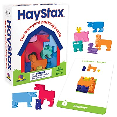 Brainwright Hay STAX - The Barnyard Packing Puzzle: Toys & Games