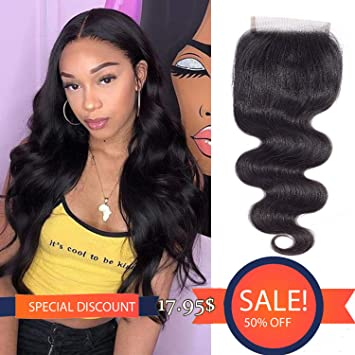 Lace Closures & Frontals Beautiful Queen 10a 4*4 U Shape Lace Closure Body Wave Peruvian Virgin Hair Extensions 10-20 Unprocessed With 100% Human Hair Online Discount