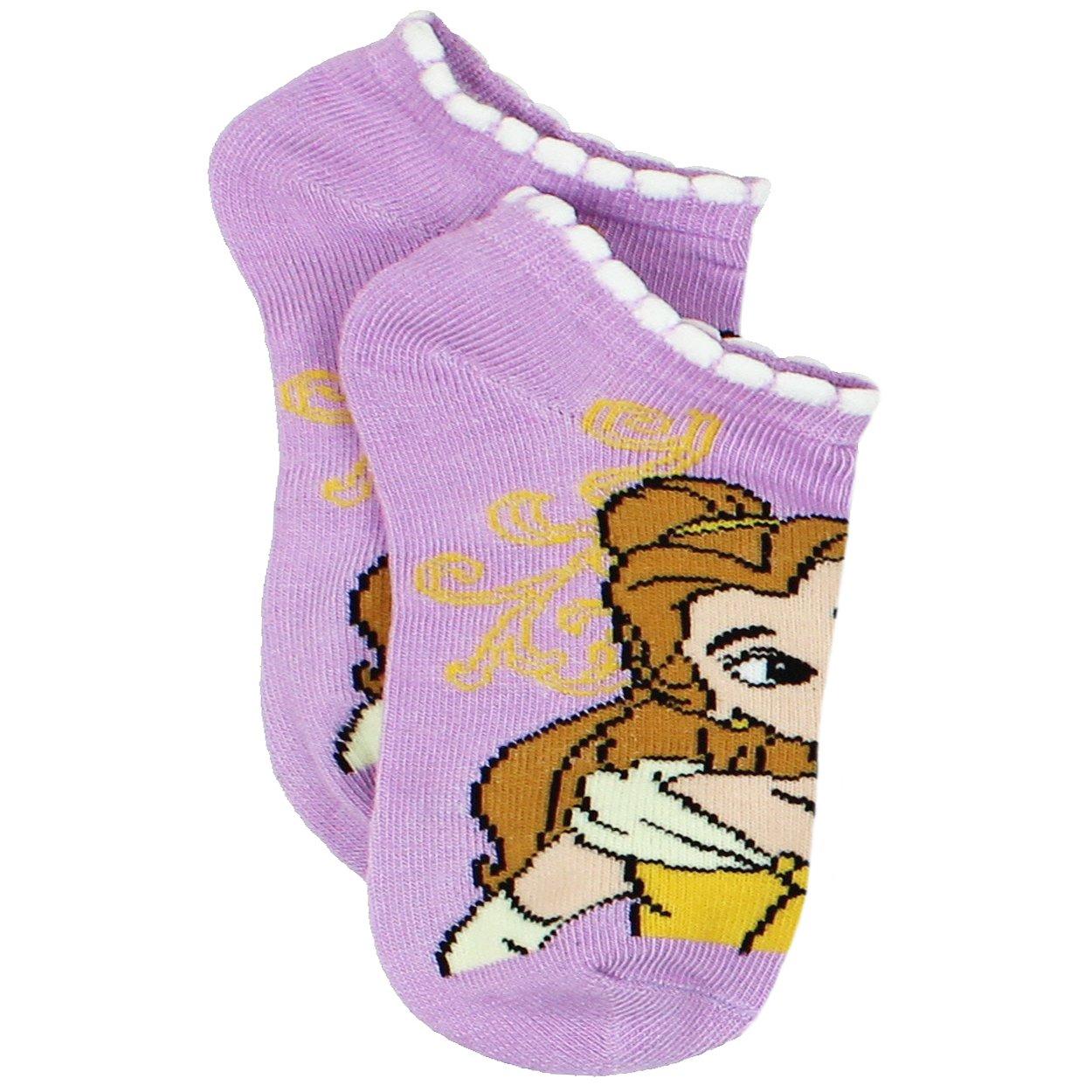 Disney Princess Belle Beauty and the Beast Girls Womens 6 pack Socks Little Kid//Big Kid//Teen//Adult