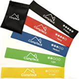 CampTeck Set of 5 Premium Latex Resistant Loop Bands suitable for Gym Home Fitness Workout, Yoga, Pilates, Strength, Injury Rehabilitation, Physio & Mobility with Storage Bag