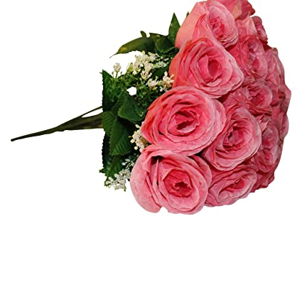 Top 14 Head Fake Sunflower Artificial Silk Flower Bunch Wedding Floral Decor YJ Home Decor