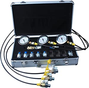 DUSICHIN DUS-900 Excavator Hydraulic Pressure Test Kit, Hydraulic Tester, Pressure Test Guage Coupling 9000 PSI