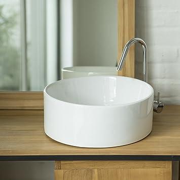 Rundes Waschbecken.Rundes Waschbecken Aus Porzellan Aufsatzwaschbecken 25 Cm