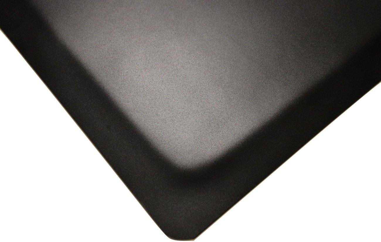 Rhino Mats HDT24X3DS/SS Extra Thick HDT, Heavy Duty Top Anti-Fatigue Mat, Vinyl, 1.38'' Thickness, Black