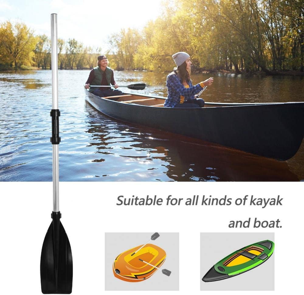 Detachable Lightweight Ribbed Blade Kayak Paddles for Youth /& Adult Kayak Fishing Boat Oars Aluminium Alloy GOTOTOP 2Pcs Kayak Paddle
