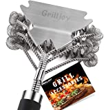 GRILLJOY 18inch Grill Cleaning Brush Bristle Free - Ideal BBQ Grill Accessories Gift For Christmas - Safe BBQ Cleaning Grill