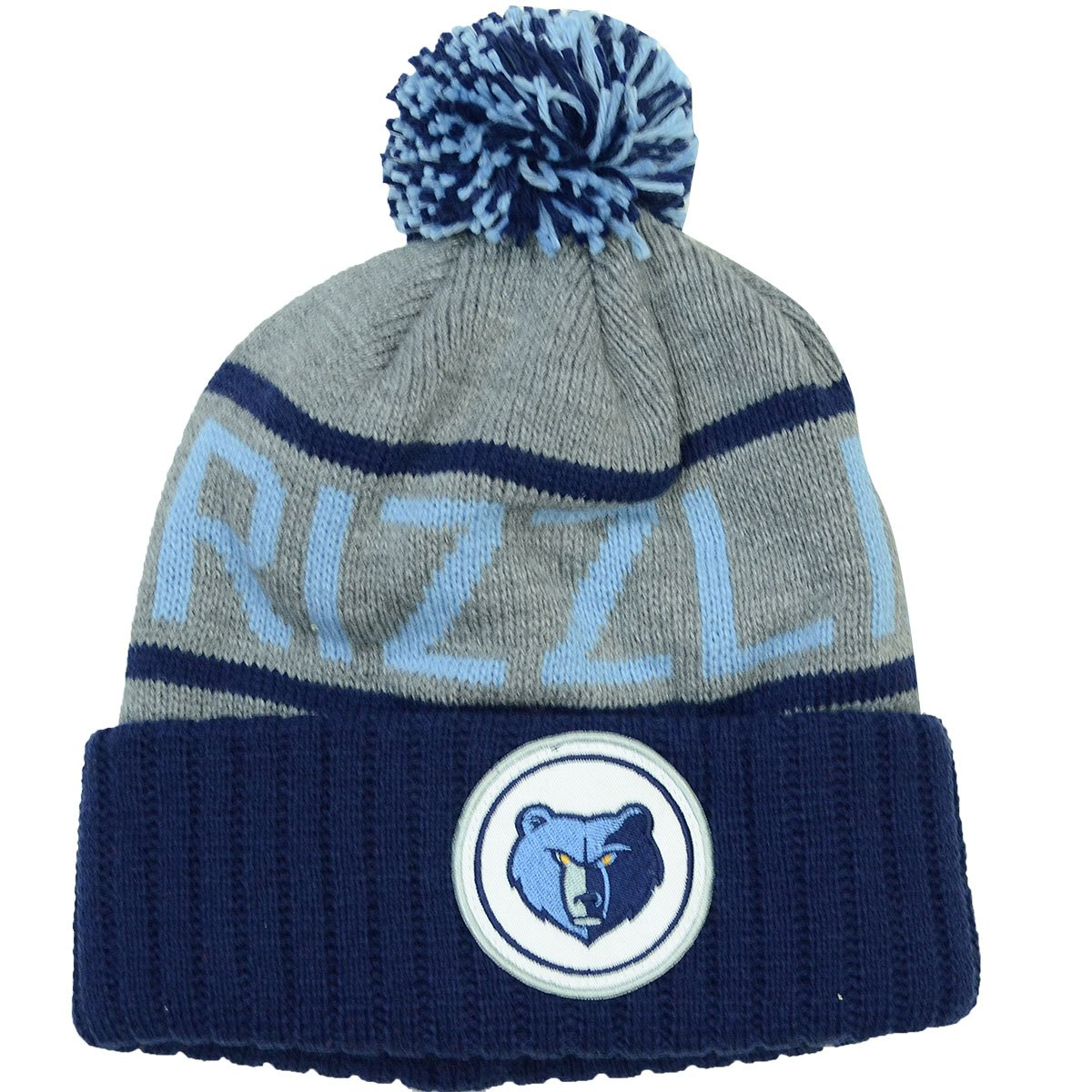 Memphis Grizzlies Mitchell & Ness NBA High 5 Gray Current Cuffed Knit Hat by Mitchell & Ness