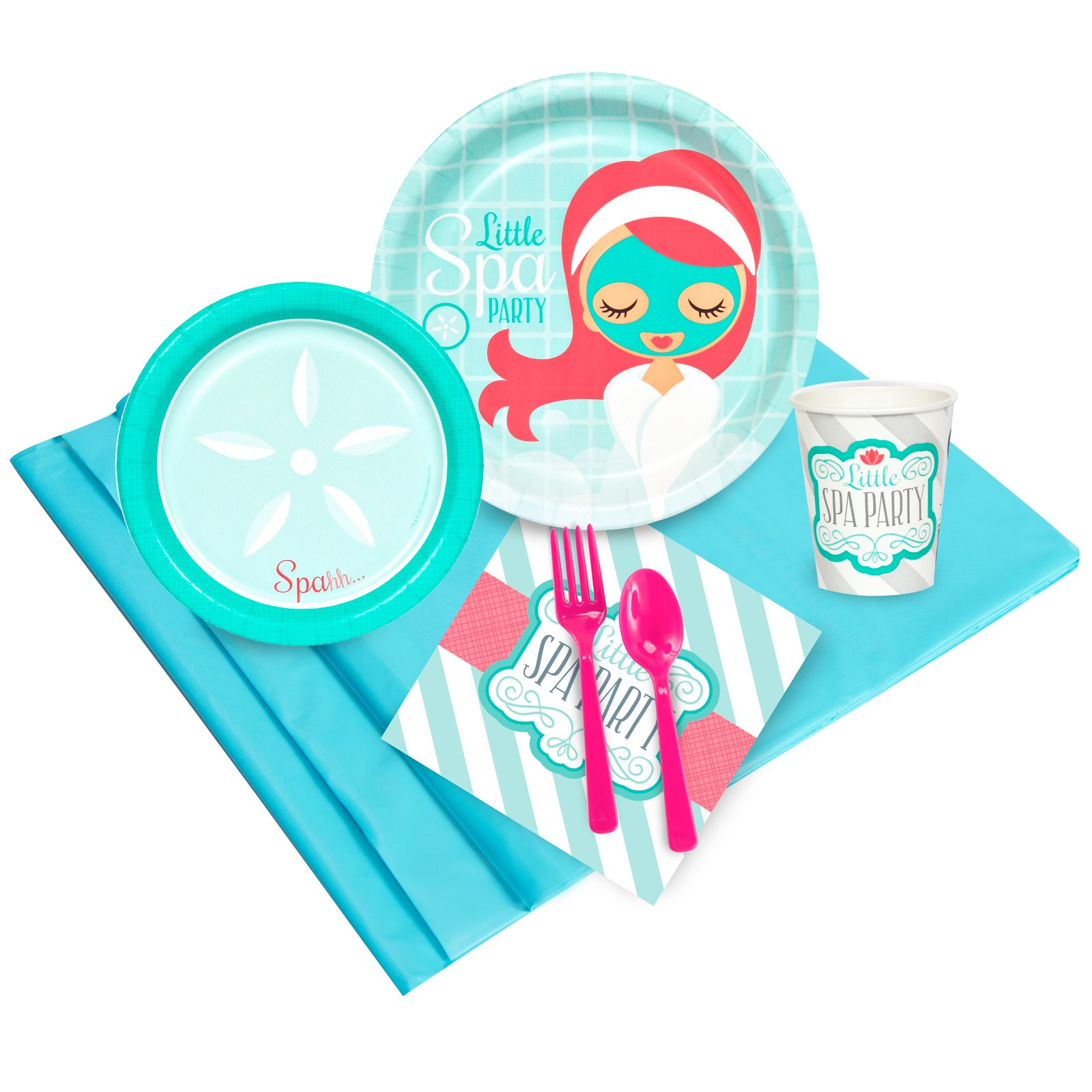 BirthdayExpress Little Spa Salon Makeover Party Supplies - Value Party Pack