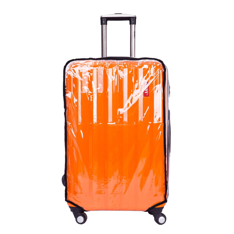 CSTOM PVC Transparent Housse pour Valise Bagage Protection Voyage Accessoires Grande Taille 30 (54cm L x 34cm W x 75cm H)