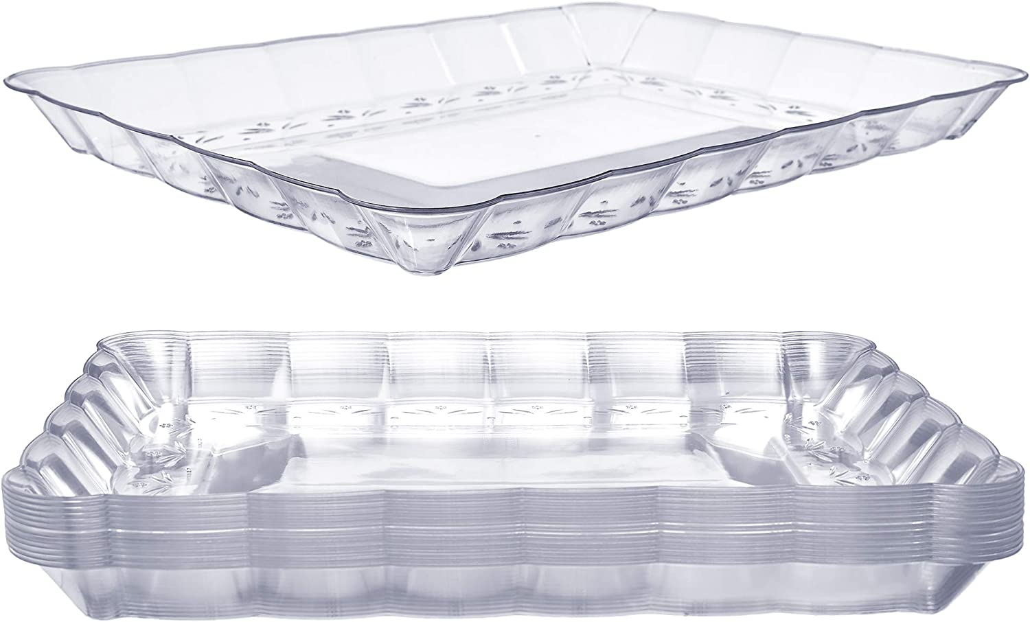 12 Plastic Serving Trays – Serving Platters | 9