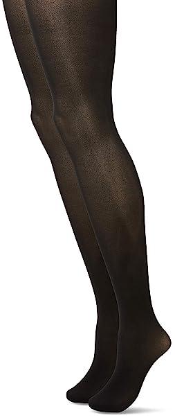 775d96e78f4 Ladies 2 Pair Charnos 40 Denier Tights With Comfort Top Black Small Medium