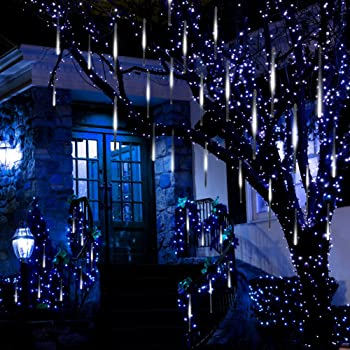 anlising falling rain lights meteor shower led rain lights 8 tubes 136 led118 inchtube icicle snow falling rain drop lights for wedding party holiday