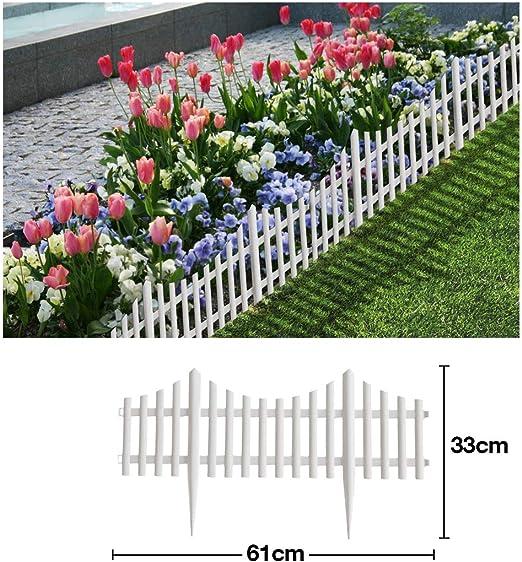 Comercial Candela Valla para Jardín Plástico PVC Diseño Moderno para Decoración y Proteger los Bordes del Césped, Patio o Jardineras en Tierra 5 Unidades: Amazon.es: Jardín