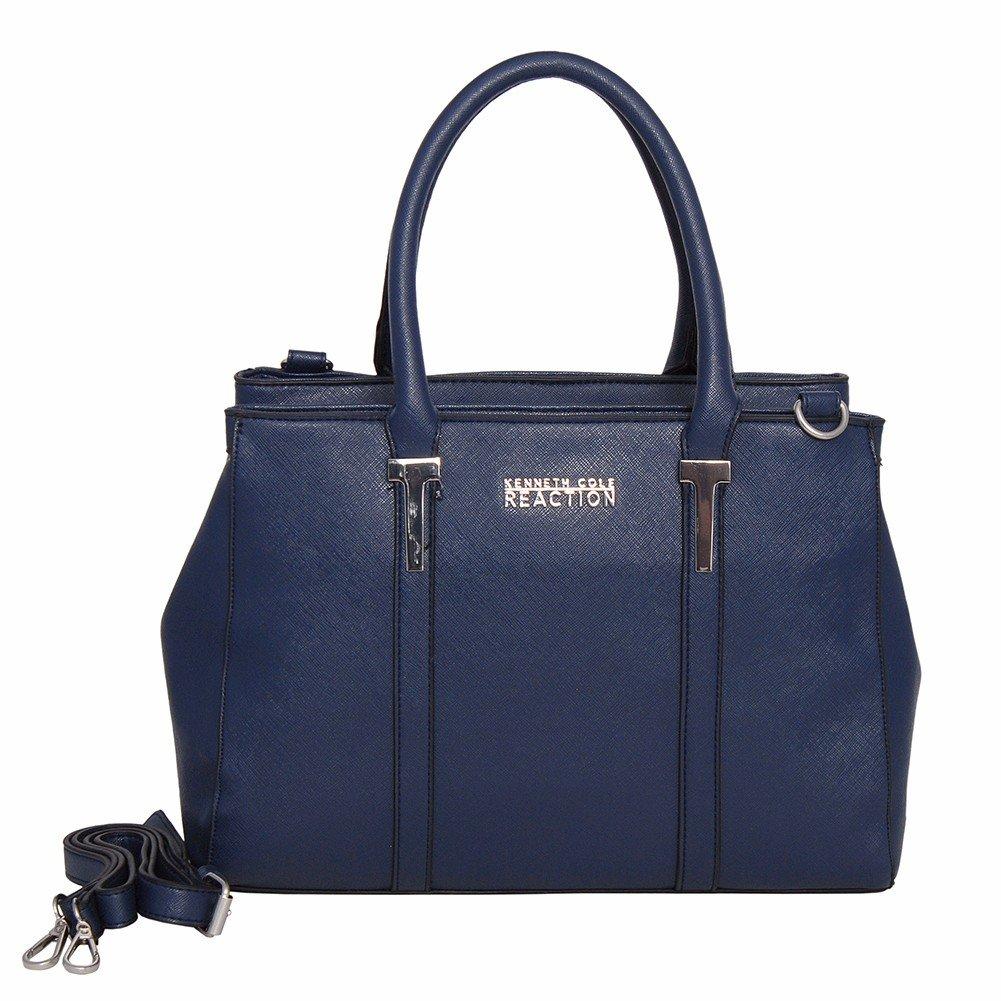 Kenneth Cole Reaction KN1860 Triple Entry Harriet Satchel Handbag (MARINA)