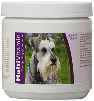 Amazon.com : Healthy Breeds Dog Multi Vitamin Soft Chew for Miniature Schnauzer - Over 80 Breeds - Daily Vitamin and Mineral Supplement - 60 Count : Pet ...