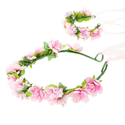 HanLuckyStars Romantica Diadema Corona Flores para Cabello Garland Halo  Accesorios para el cabello Elegante Decoradas con 076f858e30a5