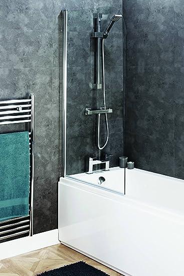 800 mm x 1400 mm baño redonda 6 mm cristal de seguridad de ducha con bisagra mampara de baño: Amazon.es: Bricolaje y herramientas