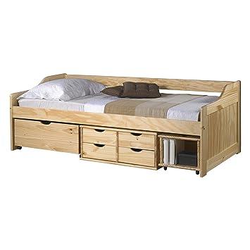 Bett mit schubladen 90x200  Funktionsbett SOFIA 90x200 cm Funktionsliege Jugendbett mit ...