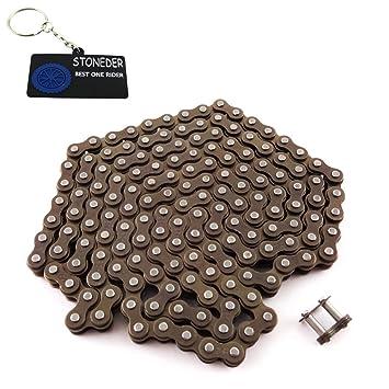 STONEDER 25H de la cadena de la rueda dentada 158 enlaces con eslabón maestro