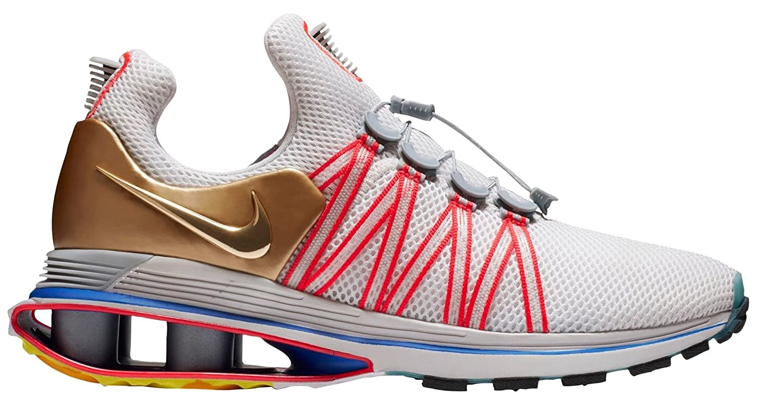 outlet store c9d9d d6949 Amazon.com   Nike Shox Gravity 2018 Metallic Gold Blue Red White Men s Sz 9   AQ8553-009    Road Running
