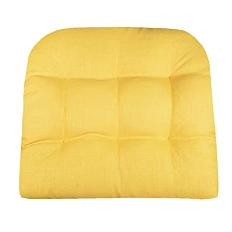 Barnett Products Patio Chair Cushion   Rave Yellow Gold Solid Color   Size  Large   Indoor
