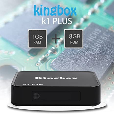 Versión Pura]Kingbox K1 Plus Android TV Box Android TV Caja Quad Core Cortex-A53 Android 6.0 Soporte de 2,4 GHz de WiFi Smart tv box: Amazon.es: Electrónica