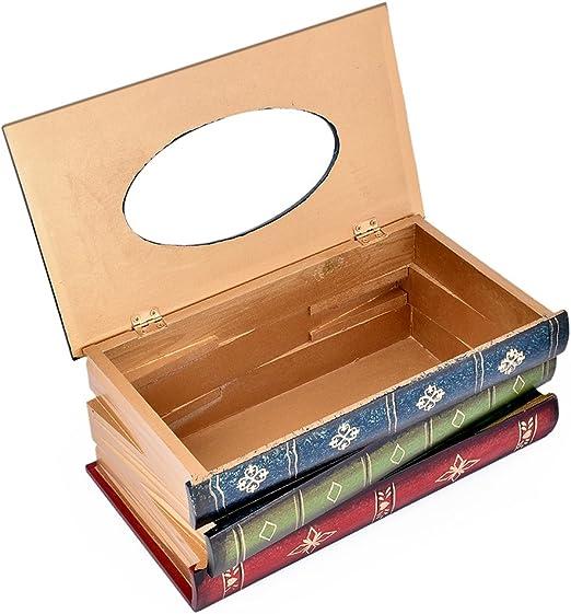 DSstyles Caja de pañuelos Libro Retro Tissue de Madera Titular de ...