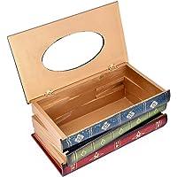 DSstyles Caja de pañuelos Libro Retro Tissue