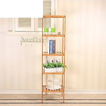 estante de la esquina del/estante de baño de bambú/estanterías/Cuarteto/Estante de la esquina del cuarto de baño-D: Amazon.es: Bricolaje y herramientas