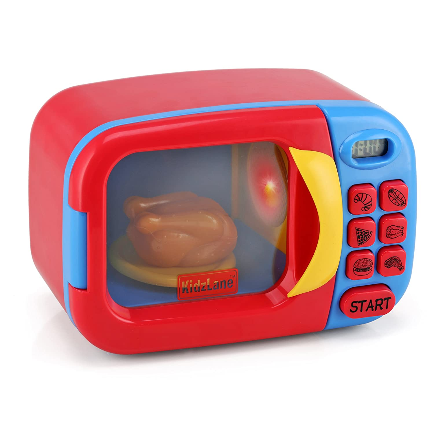 Kidzlane Microwave Oven Toy for Kids Pretend Play Kitchen