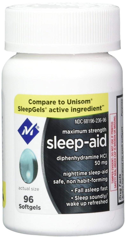 Amazon.com: Member's Mark Maximum Strength Nighttime Sleep Aid,  Diphenhydramine HCI 192 softgels: Health & Personal Care