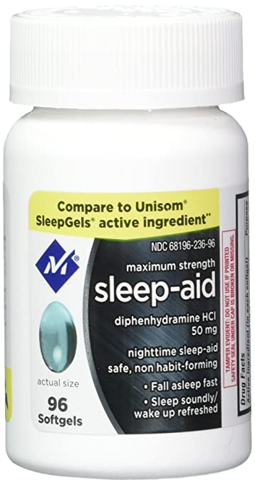 Member's Mark Maximum Strength Nighttime Sleep Aid, Diphenhydramine HCI 192  softgels