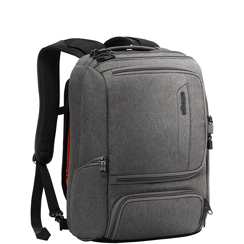 eBags Professional Slim Junior Laptop Backpack for Travel, School & Business - Fits 15.75 Inch Laptop - Anti-Theft - (Heathered Graphite) by eBags