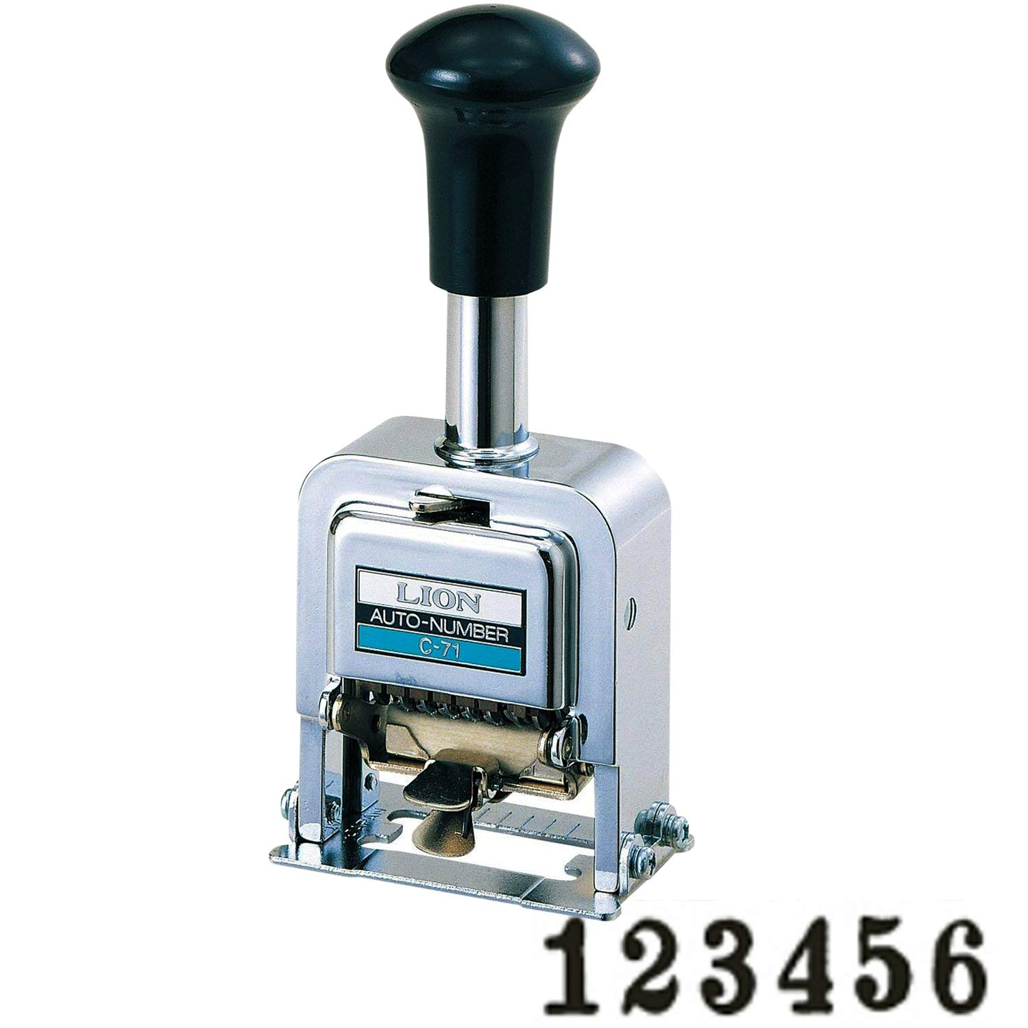 Lion Pro-Line Heavy-Duty Automatic Numbering Machine, 6-Wheel, Roman, 1 Numbering Machine (C-71) by Lion