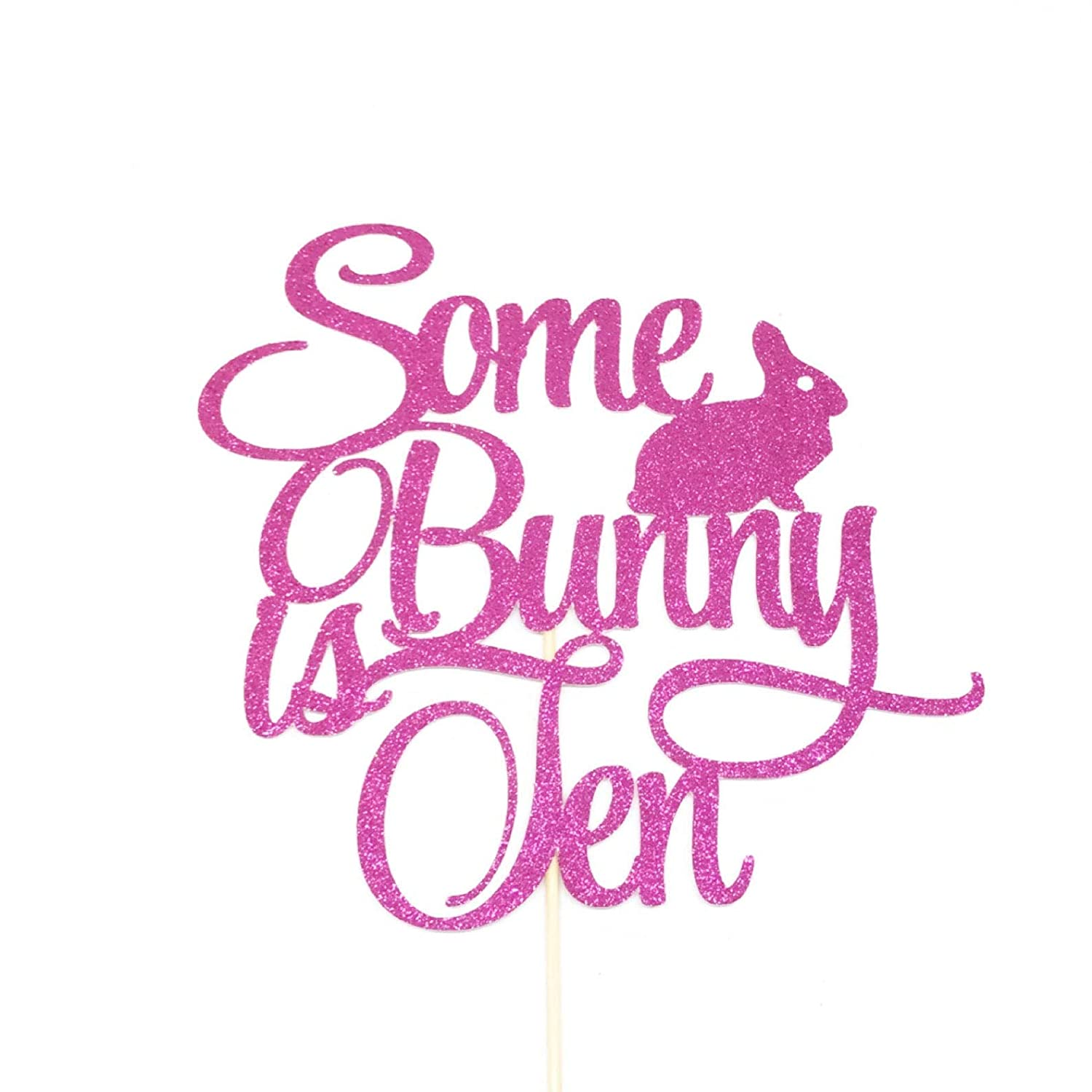 10 Some Bunny is Turning Ten Cake Topper Atelier Elegance Some Bunny is Ten Cake Topper