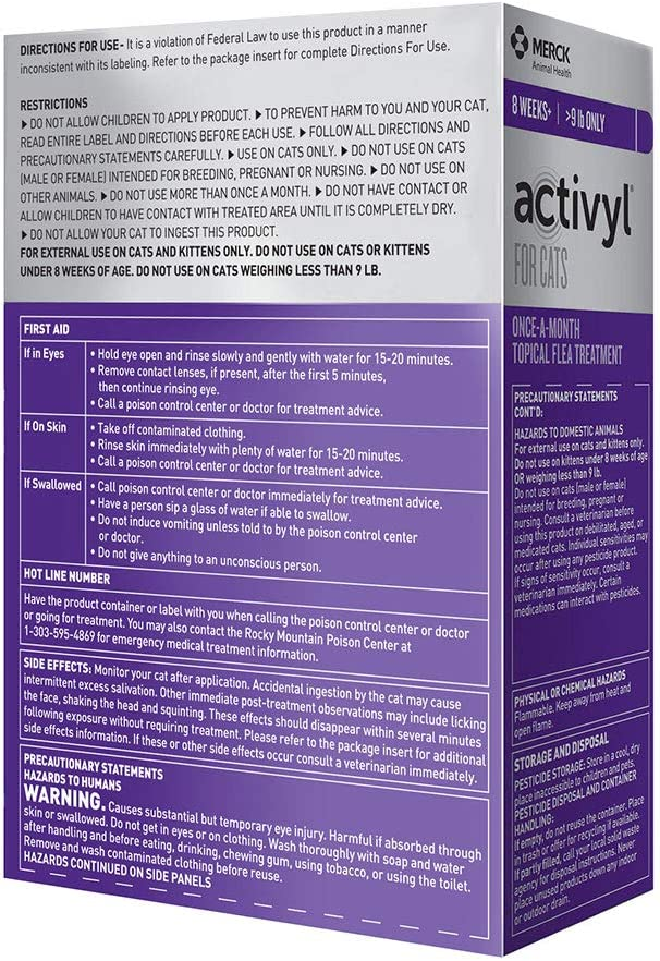 Activyl Cats over 9lbs 3-pack