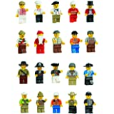 Mintoys Mini Figures Character Mini Men Cowboy,Pirate,Wizard & More (Pack of 20)